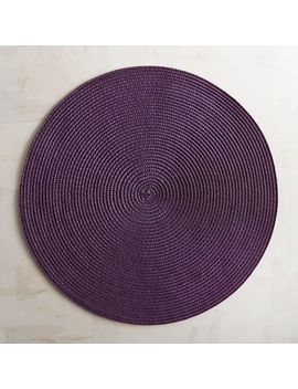 Mesa Purple Woven Round Placemat by Pier1 Imports