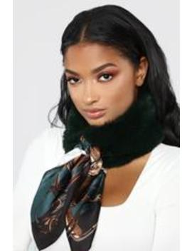 Her Mess Fur Scarf   Olive by Fashion Nova