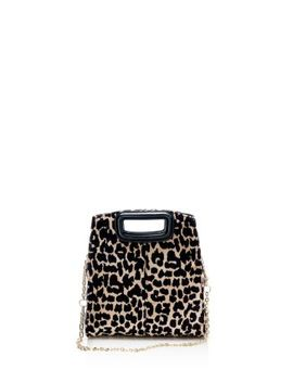 Leopard Print Convertible Shoulder Bag by Maje