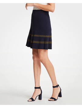Shimmer Stripe Sweater Skirt by Ann Taylor