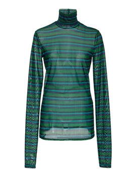 Long Sleeve Stretch Cotton Turtleneck by Proenza Schouler Pswl