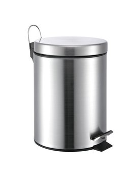 Neat O 5 Liter/1.3 Gallon Small Round Stainless Steel Step Trash Can by Neat O