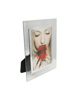 Glass Picture Frame (3.5 X 5) Mirrored Edge by Party Plus 4 Less