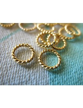 24k Gold Vermeil Jump Rings   Twisted Closed, 6 Mm, Thick, 18 Gauge Ga/ 10 100 Pcs Bulk, Wholesale Findings  Vjr6mm Solo by Etsy
