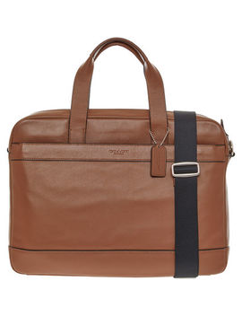 Brown Leather Hamilton Bag by Coach