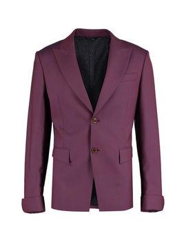 Burgundy Slim Fit Wool Blazer by Vivienne Westwood