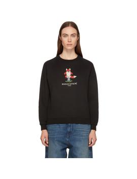 Black Pixel Fox Sweatshirt by Maison KitsunÉ