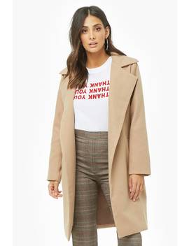 Brushed Longline Coat by Forever 21
