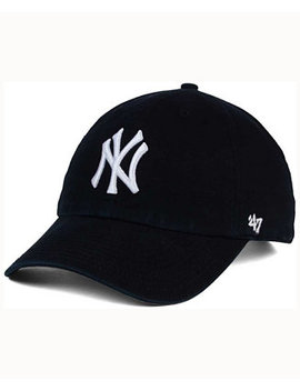 New York Yankees Black White Clean Up Cap by '47 Brand