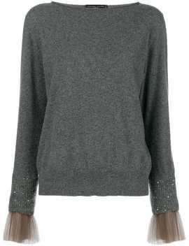 Fabiana Filippitulle Cuff Embellished Sweater홈여성fabiana Filippi여성 의류스웨터 by Fabiana Filippi