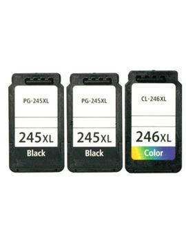 3pk Pg245 Xl Cl246 Xl Black & Color Ink For Canon Pixma Mx490 Mg2555 Printers by Unbranded/Generic