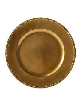 Beaded Charger Plates In Bronze (Set Of 6) by Bed Bath And Beyond