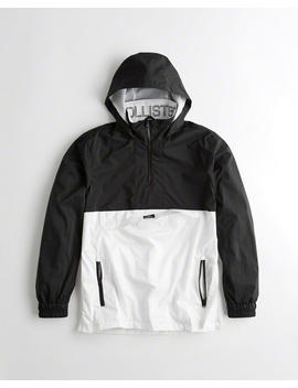 mesh-lined-half-zip-windbreaker by hollister