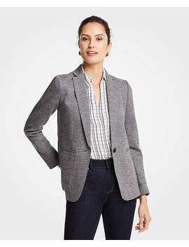 Doubleface One Button Blazer by Ann Taylor
