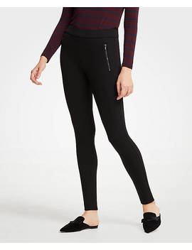 Scuba Zip Pocket Leggings by Ann Taylor