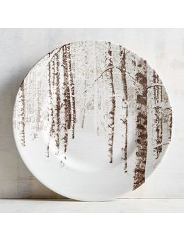 Snow Forest Salad Plate by Pier1 Imports
