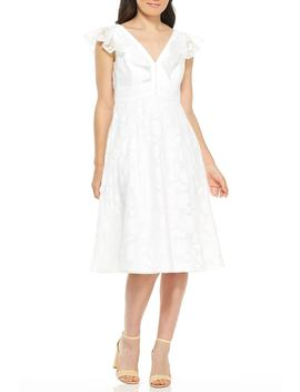 Susie Floral Organza Fit & Flare Dress by Gal Meets Glam