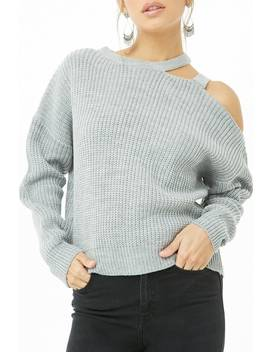 Ribbed One Shoulder Sweater by Forever 21