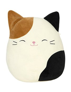 "Squishmallow Cameron The Cat Pillow Stuffed Animal, Tricolor, 16"" by Squishmallow"
