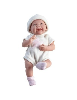"Jc Toys La Newborn 15"" All Vinyl Anatomically Correct Real Girl Newborn Baby Doll   Pink Star. Made In Spain by Jc Toys"