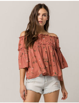 Coco & Jaimeson Off The Shoulder Floral Womens Top by Coco & Jaimeson