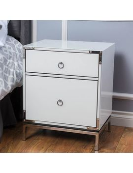 Doreal White Bedside Chest by Pier1 Imports
