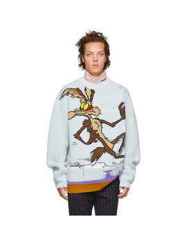 Blue Looney Tunes Edition Coyote Sweater by Calvin Klein 205 W39 Nyc