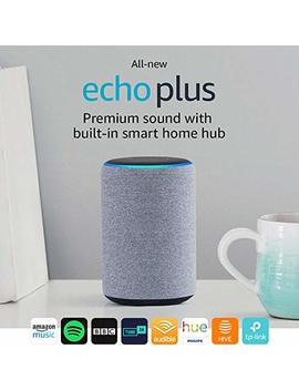 All New Echo Plus (2nd Gen), Charcoal Fabric + Philips Hue White Bulb E27 by Amazon