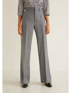 Virgin Wool Trousers by Mango