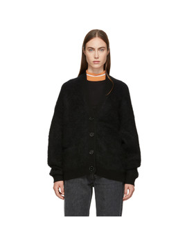 Black Mohair Rives Cardigan by Acne Studios
