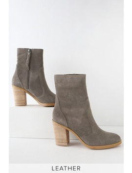 Roselyn Ii Charcoal Suede Leather Mid Calf Booties by Splendid