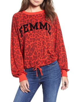 Leopard Crop Sweatshirt by Pam & Gela