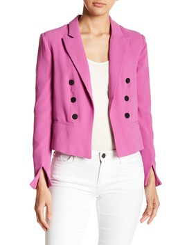 Goldtone Accent Blazer by Romeo & Juliet Couture