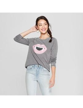 Women's Fangs Graphic Sweatshirt   Grayson Threads (Juniors') Charocal by Grayson Threads