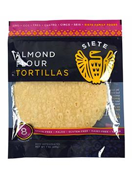 Siete Almond Flour Tortillas, Paleo Approved, 8 Count (2 Pack) by Amazon
