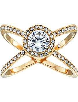 Mixed Shape Cz Pavé X Ring by Michael Kors