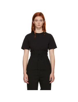 Black Pleated Waist T Shirt by 3.1 Phillip Lim