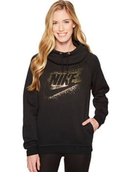 Sportswear Rally Metallic Funnel Neck Pullover Hoodie by Nike