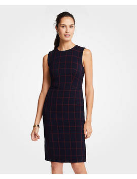 Windowpane Sheath Dress by Ann Taylor