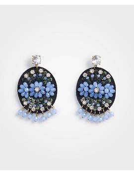 Beaded Fabric Earrings by Ann Taylor