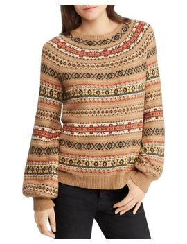 Fair Isle Intarsia Sweater   100 Percents Exclusive by Lauren Ralph Lauren