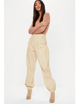 Sand 80's Twill Joggers by Missguided