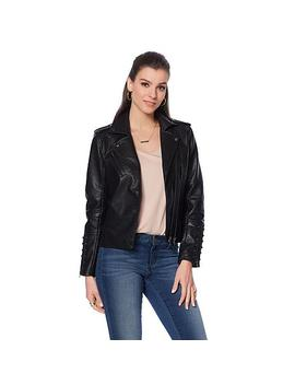 Colleen Lopez Effortlessly Edgy Faux Leather Jacket by Colleen Lopez Collection