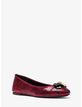 Alice Snake Embossed Leather Ballet Flat by Michael Michael Kors