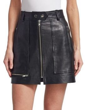 Alynna Zip Leather Mini Skirt by Isabel Marant Etoile
