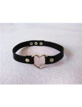 Fashion Jewelry Cosplay Handmade Punk Rock Gothic Stud Real Leather Harajuku Kawaii Lolita Heart Collar Metal Choker Necklace by Ali Express