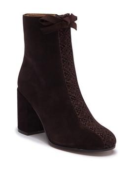 Sadie Suede Block Heel Boot by Bettye Muller