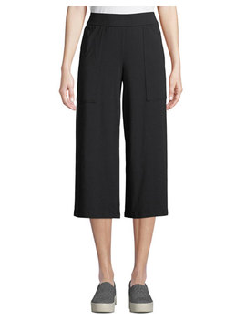 Organic Cotton Jersey Ankle Pants W/ Pockets, Petite by Eileen Fisher