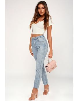 Dusters Light Wash High Waisted Jeans by Rolla's