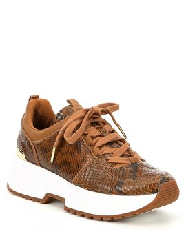 Cosmo Trainer Snake Printed Leather Sneakers by Michael Michael Kors